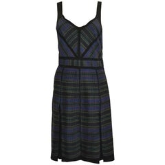 Proenza Schouler Tribal Print Silk Pleated Dress sz S