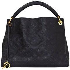 Louis Vuitton Blue Infini Leather Monogram Empreinte Artsy MM Hobo Tote Bag