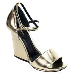 Roberto Cavalli Womens Gold Ankle Strap Sandals