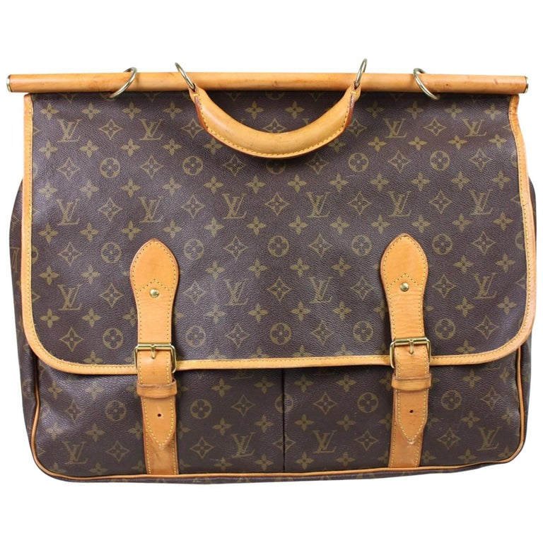 1990's Louis Vuitton Sac Chasse Monogram Canvas Luggage