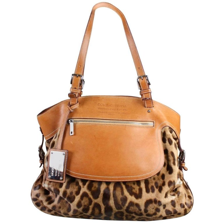 Dolce & Gabbana Miss Adventure Pony Hair Tote For Sale