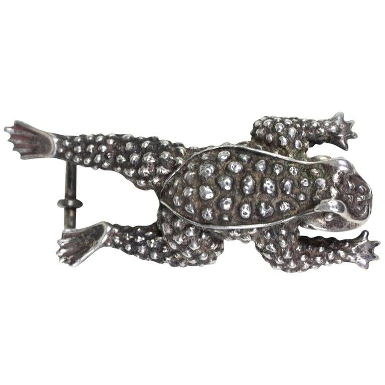Kieselstein-Cord Sterling Silver Frog Buckle