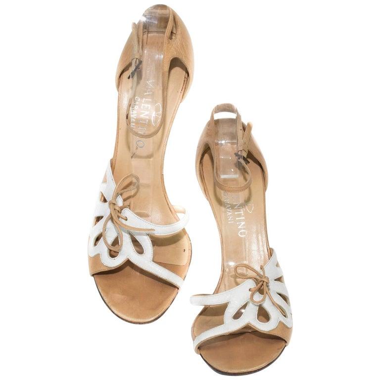 Valentino Beige Ankle Strap Heel