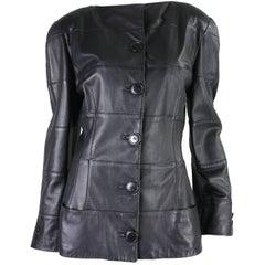 1980's Krizia Black Leather Jacket