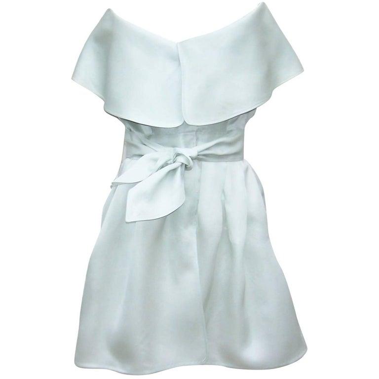1980's Claude Montana Silk Wrap Dress With Portrait Collar