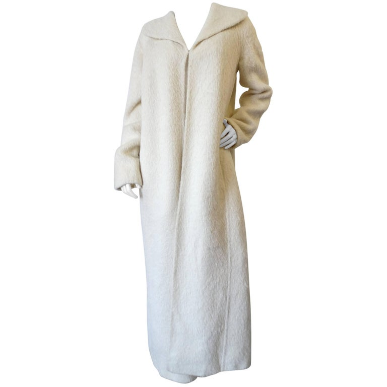 2000s Gianfranco Ferre Long Fur Swing Coat