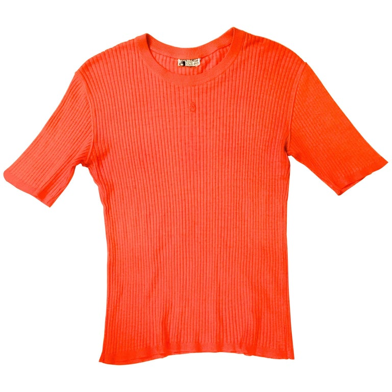 Courreges Sweater - Men's - Short Sleeve - Rare - 1960's