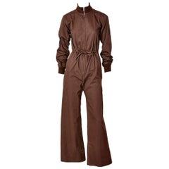 Yves Saint Laurent Chocolate Brown Jumpsuit