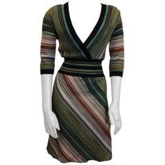 Missoni V Neck Striped Dress