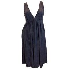 Claudie Pierlot Pleated V-neck Wool Dress