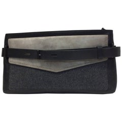 Reed Krakoff Slate Gray Buckle Clutch