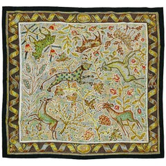 "Hermès Rare Silk Carre Scarf ""Pavement"" by Maurice Tranchant"