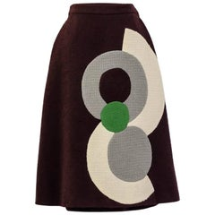 circa 2000s Dirk Van Saene A-line boucle skirt