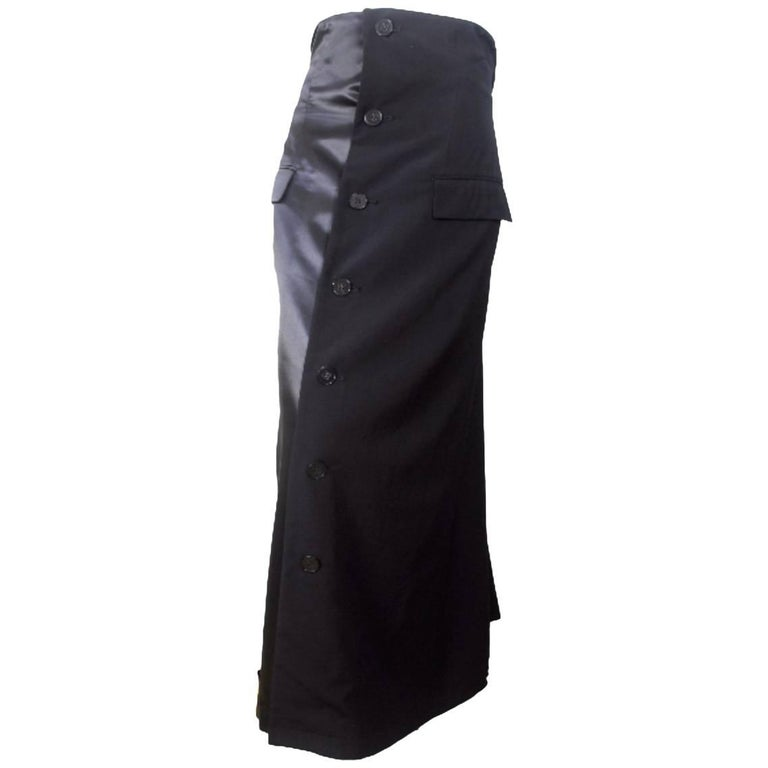 Comme des Garcons 1992 Collection Tuxedo Skirt