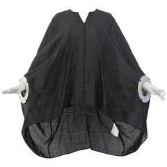 2016 Junya Watanabe linen cape dress featuring metal cuffs