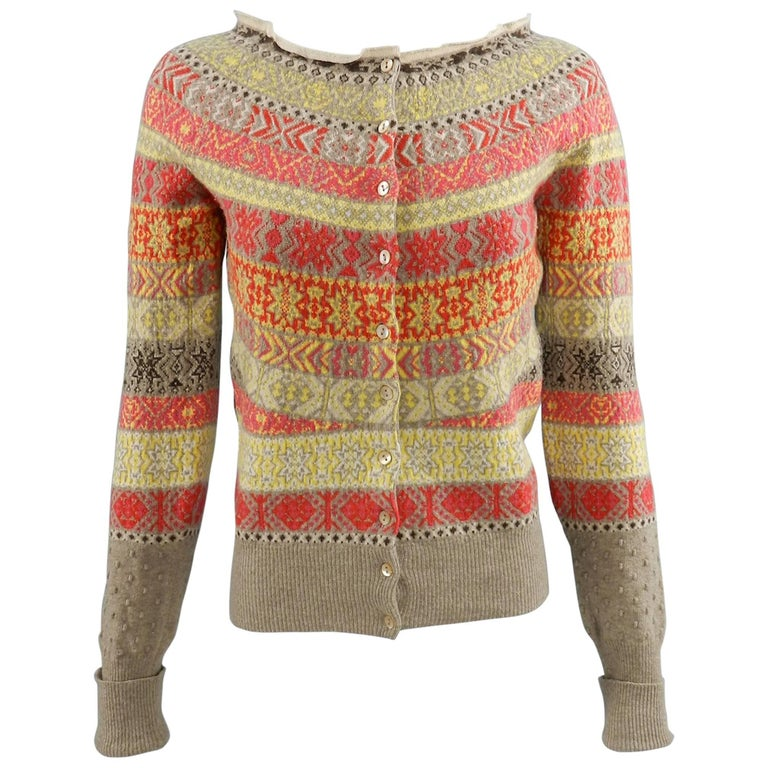 Alexander McQueen Fall 2005 Runway Fair Isle Cardigan Sweater at ...