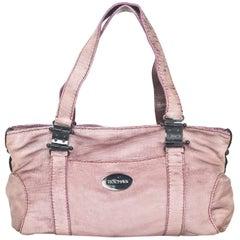 Rochas Mauve Layered Leather Bag