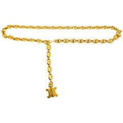 Celine Gold Chain Belt