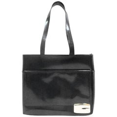 """One Of Tom Ford's All Time """"IT"""" Bags: Big Black Patent Gucci FW 1996 """"G"""" Bag!"""