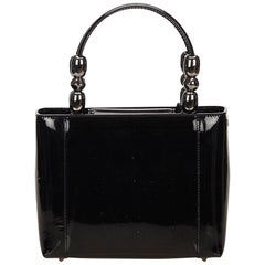 Dior Black Patent Leather Tote