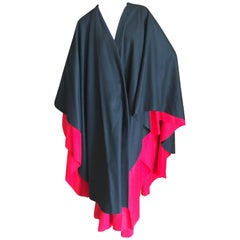 Moschino Couture 1980's Double Layer Black and Red Cape