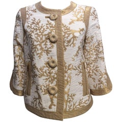 Andrew GN Gold And Ivory Jacket Sz 4