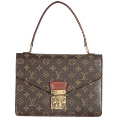 LOUIS VUITTON Vintage Brown MONOGRAM Canvas CONCORDE Handbag