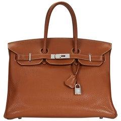 2008 Hermes Gold Clemence Leather Birkin 35cm