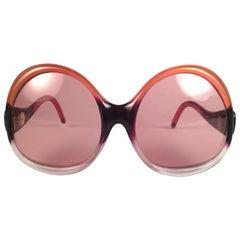 New Vintage Balenciaga Clear & Orange Ombre Sunglasses 1970's