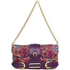 Jimmy Choo Multi-Colored Printed Satin Tulita Bag