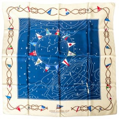 Louis Vuitton Silk Scarf / Challengers Races for the America's Cup