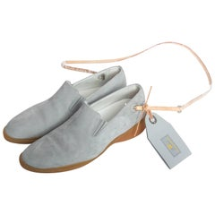 Louis Vuitton Blue Suede America's Cup Boat Shoes / Loafers - 39