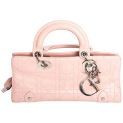 Christian Dior East /West Pink Cannage Lady Dior