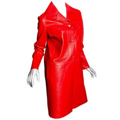 Marni Red Leather Duster /  Coat - 40
