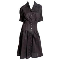 Jean Paul Gaultier Black Shirt Dress