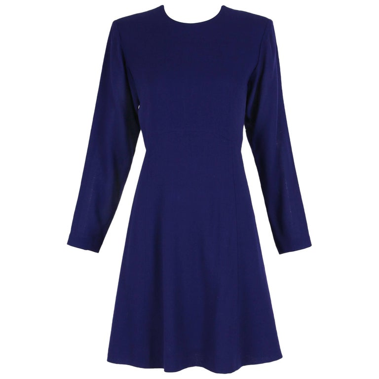 86567e66495 Yves Saint Laurent YSL Purple Knee-Length Day Dress