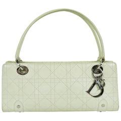 Christian Dior Off White Cannage East West Lady Dior Handbag