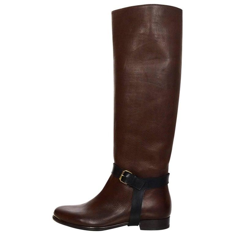 Lanvin Brown Riding Boots Sz 37 NIB rt. $1,490