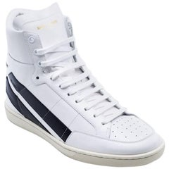 Saint Laurent White Court Classic SL/36H High Top Sneaker