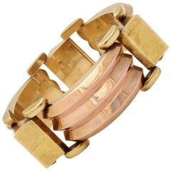 Retro Austrian Two Color 15 kt Bracelet