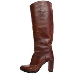 Roberto Del Carlo Brown Leather Boots Sz 37.5