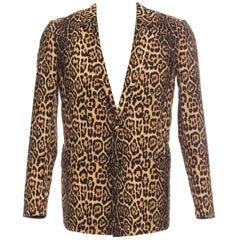 Givenchy Riccardo Tisci Men's Runway Cotton Leopard Blazer, Spring 2011