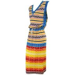 Kansai Yamamoto Fairisle Knit Dress