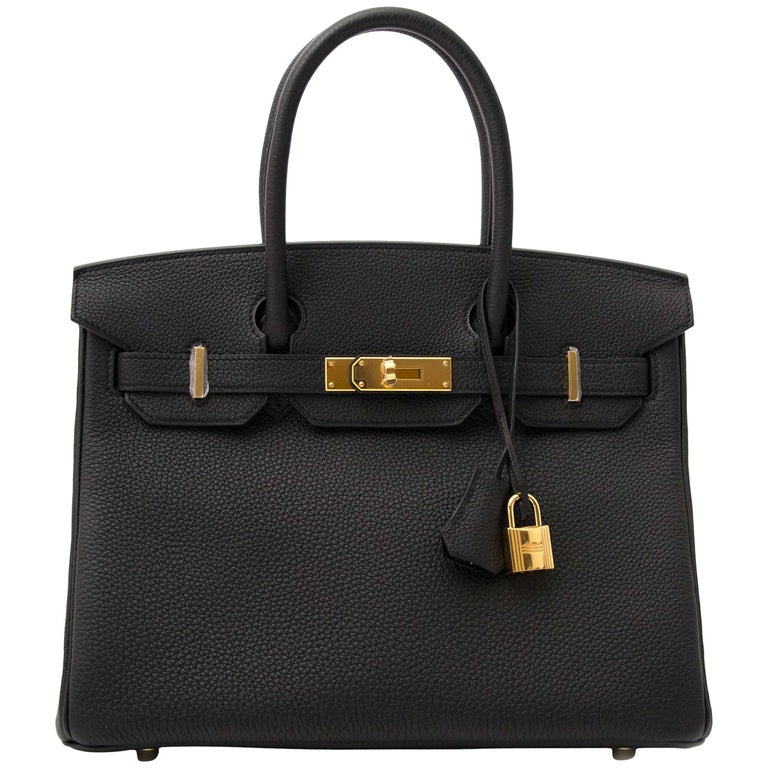 0a2a425df9e Hermès Birkin 30 Togo Black GHW For Sale at 1stdibs