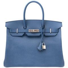 Hermes Birkin 35cm Bleu Agate Epsom