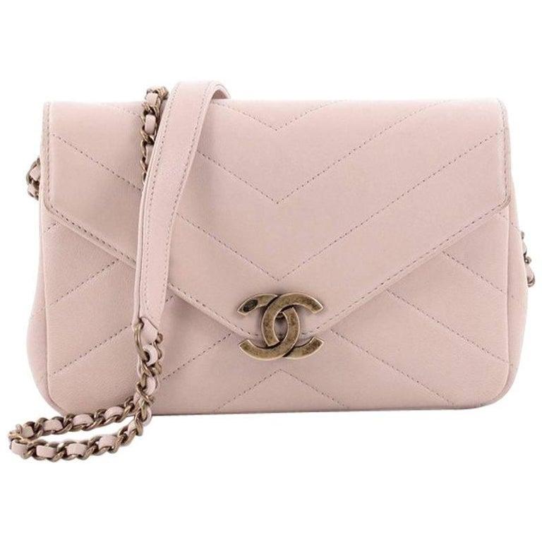 8e43f51c5518 Chanel Coco Envelope Flap Bag Chevron Leather Mini at 1stdibs
