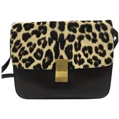 Celine Box Bag Leather with Pony Hair Medium