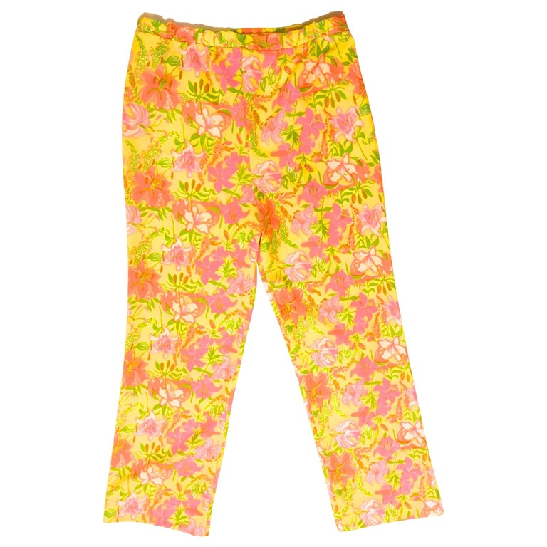 Rare Lilly Pulitzer Pull-up Pants - Late 1960's