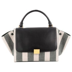 Celine Trapeze Handbag Canvas with Leather Small
