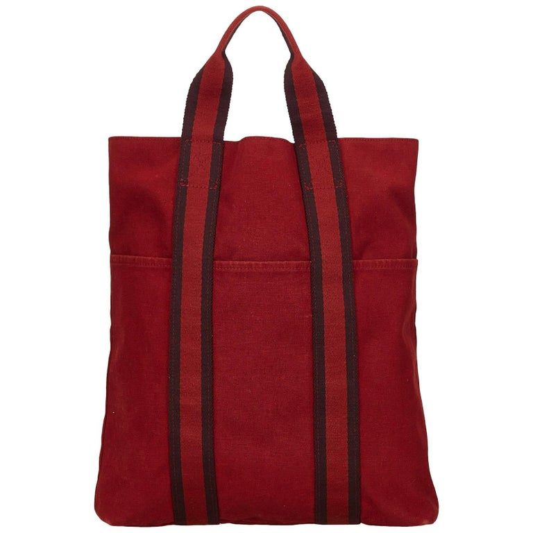 Hermes Red Fourre Tout Cabas